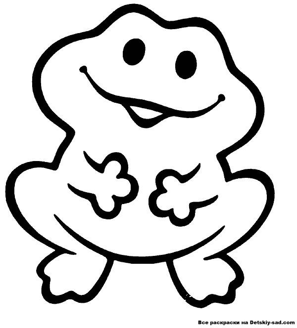 Раскраска лягушка для самых маленьких дошкольников - Все для ...