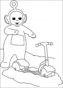 Раскраска мультфильма «Телепузики»