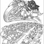раскраска мотоциклы мультфильм