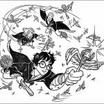 Раскраска мультфильма Гарри Поттер