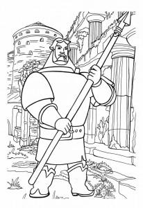 Раскраска мультфильма Илья Муромец и Соловей разбойник