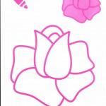 раскраска роза