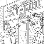Раскраска мультфильма «Облачно, возможны осадки в виде фрикаделек»