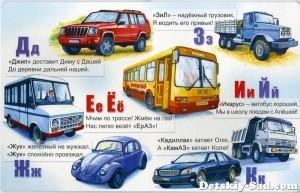 Стенд «Изучаем буквы Д, Ж, З, Е, Ё, И, Й, К»