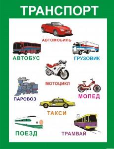 Стенд-плакат для детского сада «Изучаем транспорт»