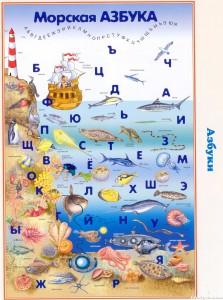 Стенд для детей «Морская азбука»