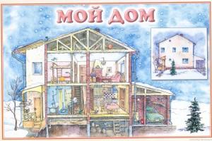 Стенд для ДОУ «Мой дом»