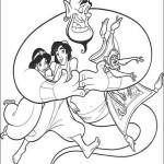 Раскраска мультфильма Алладин — часть вторая