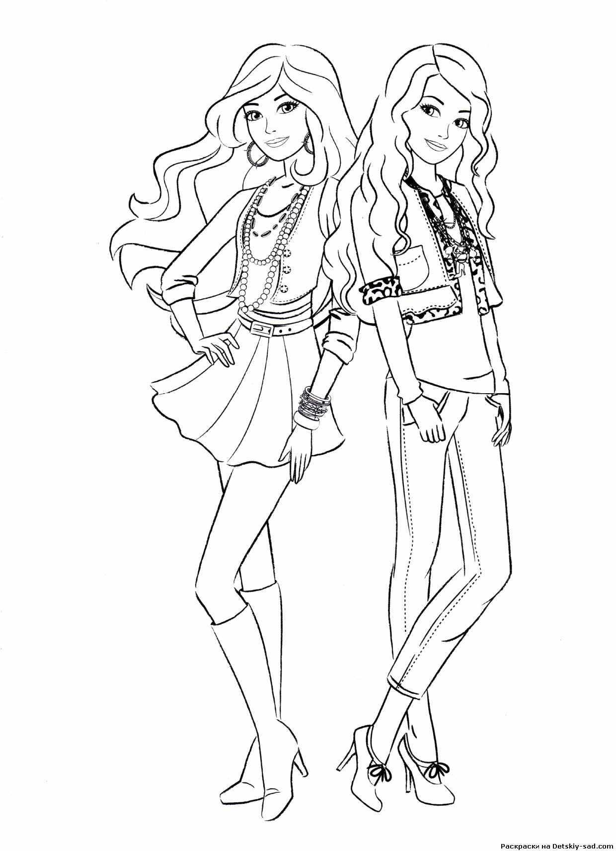 Раскраска Барби Картинка