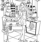 Раскраска Барби с описанием (часть 2)