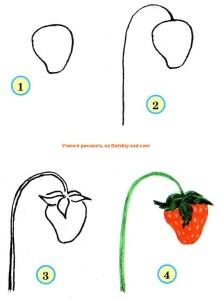 Как нарисовать землянику