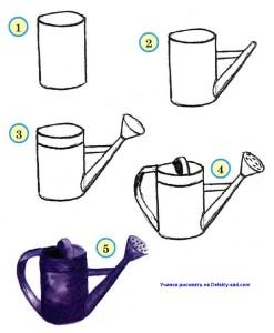 Как нарисовать лейку