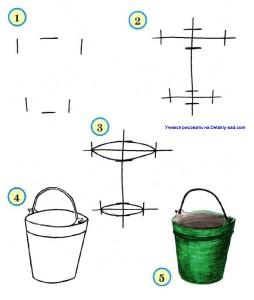 Как нарисовать ведро