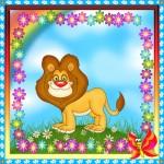 Карточка лев на шкафчик