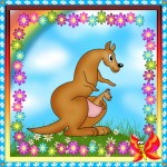 Карточка кенгуру на шкафчик