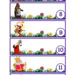 Картинки для шкафчиков с номерами 7-12