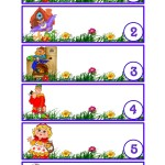 Карточки для шкафчиков ДОУ номера 1-6