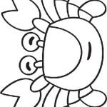 Раскраска веселый крабик