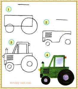 Урок рисования трактора