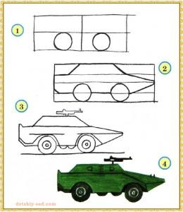 Как нарисовать броневик