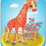 Картинка жираф на шкафчик в ДОУ