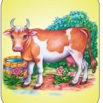 Картинка корова на шкафчик в ДОУ