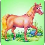 Картинка лошадь на шкафчик в ДОУ