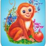 Картинка обезьянка на шкафчик в ДОУ