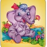 Картинка слоненок на шкафчик в ДОУ