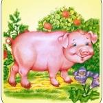 Картинка свинья на шкафчик в ДОУ