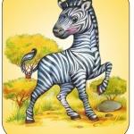Картинка зебра на шкафчик в ДОУ