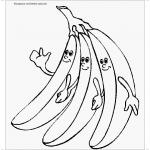 Картинки банана раскраски
