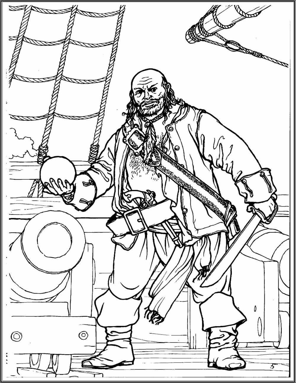 пушка на корабле раскраска все для детского сада