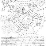 Раскраски прописи паучок