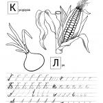 Прописи кукуруза и лук