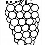 Большая гроздь винограда раскраска