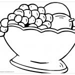 Виноград в вазе раскраска