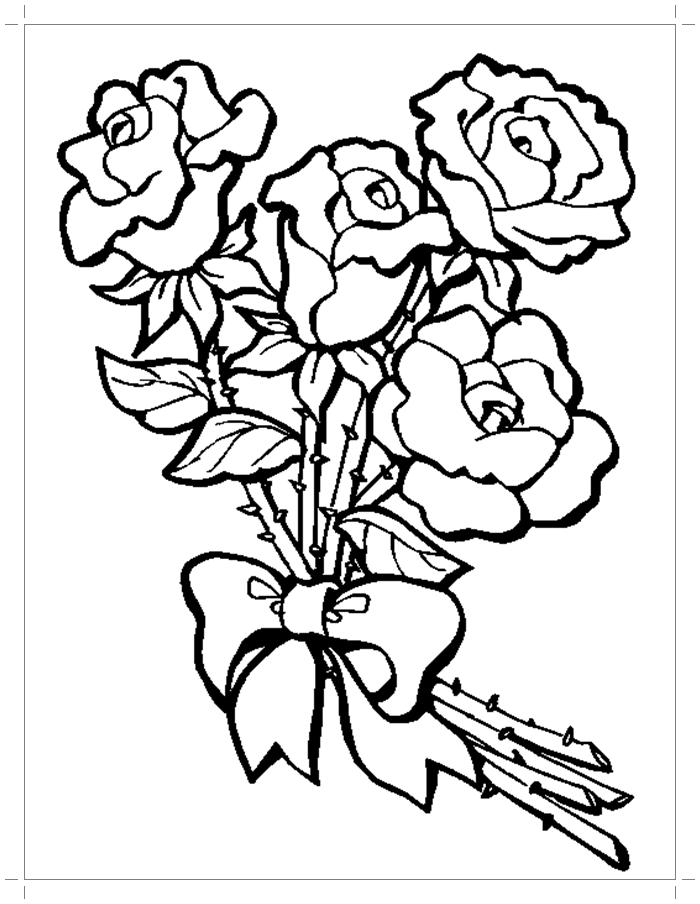 Картинки с розами раскраски