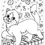 Раскраска для девочек кошки
