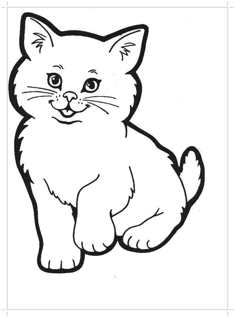 Раскраски котята бесплатно - Все для детского сада