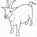Раскраска новый год козы