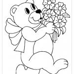 Рисунок медведь раскраска