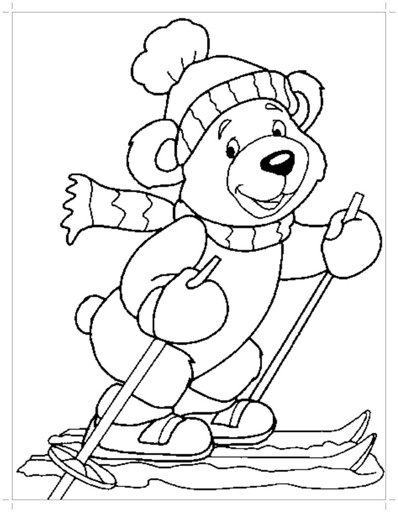раскраска медведь все для детского сада женский сайт о