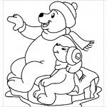 Медведи на льдине раскраска