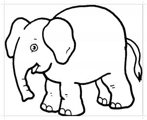 раскраска картинка слон