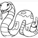 Веселая змея раскраска