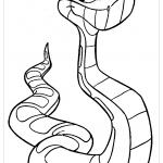 Змея из мультфильма раскраска
