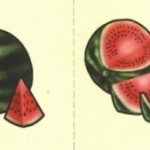 Карточки с арбузом для ДОУ