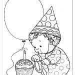 Раскраска на день рождения 1 годик