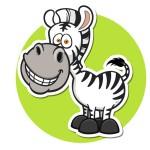 Зебра - картинка на детский шкафчик